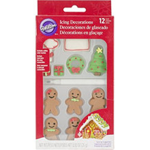 Personalize 12 Ct Gingerbread House Royal Icing Candy Decorations Wilton