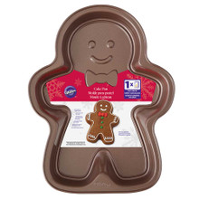 Gingerbread Boy Shaped Cookie Pan Wilton