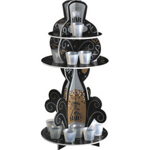 New Years Eve Party Shot Glass Stand Treat Holder Centerpiece