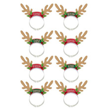 Santa's Reindeer Headbands 8 Per Package