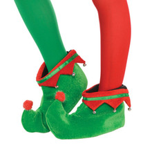 Child S/M Plush Elf Shoes One Size with Bells
