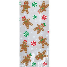 Gingerbread Boy Girl 20 ct Cello Large Bags Party