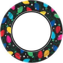 """Twinkle Lights 40 Ct Value Package 9"""" Dinner Banquet Plates"""