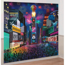 New Years Eve Times Square Scene Setter Wall Decoration Kit
