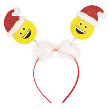 Laughing Santa Emoji Value Head Bopper HeadBopper Headband