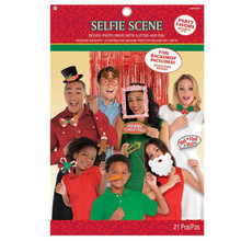 Christmas Selfie Photo Props Deluxe 21 pc