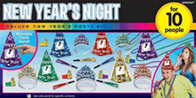 New Years Night Party New Years Eve 25 Pc Jewel Colors Kit For 10 Hats Tiaras Beads