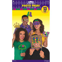 Mardi Gras Photo Prop Kit 13 Pc