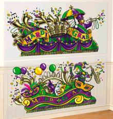 Mardi Gras Parade Float Scene Setter Wall Decoration Kit