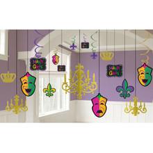 Mardi Gras Chandelier Decorating Kit Masks Swirls Fleur De Lis
