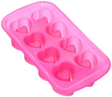Pink Valentine's Day Wilton Silicone Heart Shot Glass Treat Mold 8 Cavity