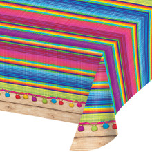 Serape Table Cover Cinco De Mayo Fiesta Plastic 54 x 102