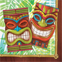 Tiki Time 16 Ct Lunch Napkins Summer Pool Party Luau