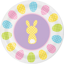 "Cottontails Happy Easter Bunny 8 Ct 7"" Dessert Cake Paper Plates Peeps"
