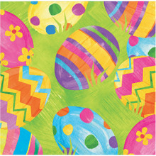 Easter Egg Toss 16 Ct Beverage Paper Napkins