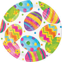 "Easter Egg Toss 8 Ct 9"" Dinner Lunch Paper Plates"