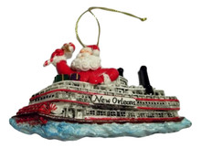 Steamboat Santa New Orleans Christmas Ornament Mardi Gras Party Favors