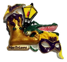 Street Light, Gator Mask Parasol New Orleans Magnet Party Favor