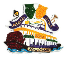 Steamboat Drama Masks Mardi Gras New Orleans Magnet Party Favor