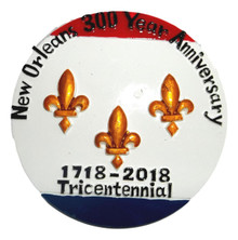New Orleans Tricentennial  1718-2018 Magnet Party Favor Round
