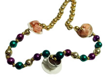 Cafe Au Lait Coffee and Beignets Mardi Gras Beads Party Favor