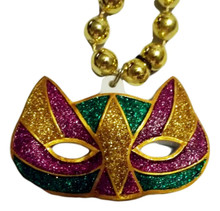 Cat Mask Mardi Gras Beads Party Favor Necklace