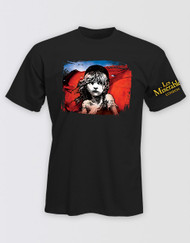 Les Miserables Black Cosette Flag T-Shirt