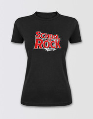 SCHOOL OF ROCK Ladies Glitter Logo T-Shirt