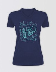 The Wind in the Willows Ladies Glitter Logo T-Shirt