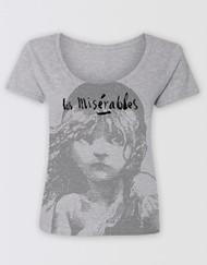 Les Miserables Grey Scoop T-Shirt