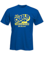 Charlie and the Chocolate Factory Royal Blue Logo Tee Unisex