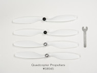 QCOP 450 Propellers (4 pieces total, 2 x black, 2 x silver)