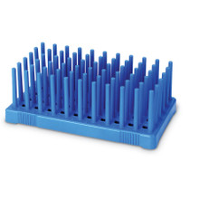 Peg Rack for drying tubes with diam 14-17mm, BLUE, 2/PK