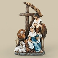 "11""HOLY FAMILY W/CROSS STABLE"