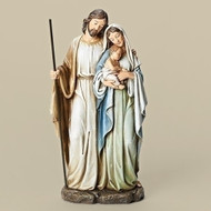 "HOLY FAMILY FIGURE - SOFT GRAYED COLORS (12"")"