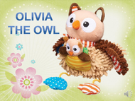 Olivia the Owl Listen+Learn Plush Toy