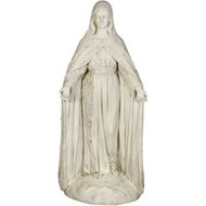 "Mary Of The Rosary with Lace 49""H"