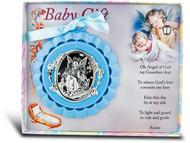 Blue Guardian Angel Crib Medal