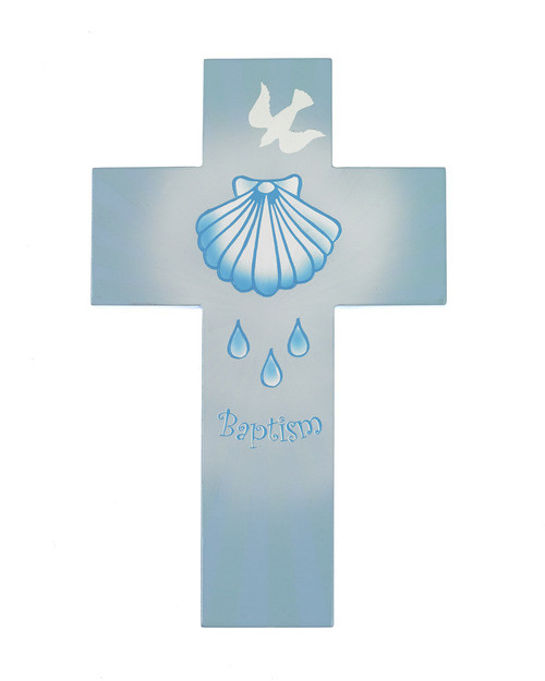 Blue Baptism Cross