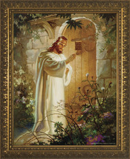 CHRIST AT HEART'S DOOR - GOLD FRAME