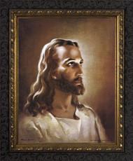 HEAD OF CHRIST - ORNATE DARK FRAME