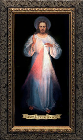 DIVINE MERCY VILNIUS (ORIGINAL) - ORNATE DARK FRAME