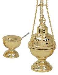 Censer and Boat (pictured with Polish Brass Finish) K701