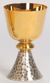 Gold Plated Two-Tone Chalice K356