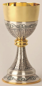 Gold Plated and Oxidized Silver Chalice K913