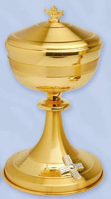 Gold Plated With Silver Plated Cross Ciborium K718