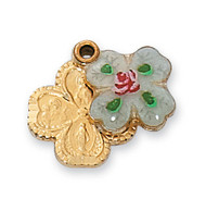4-WAY MEDAL WITH CLOISONNE PENDANT COVER J4LCS