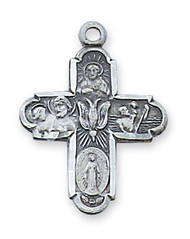 4-WAY STERLING SILVER CROSS L2210S