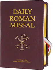 Burgundy Padded Bonded Leather Daily Roman Missal