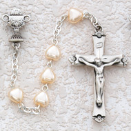 ROSARY PEARL HEART STERLING SILVER CHALICE 464LW